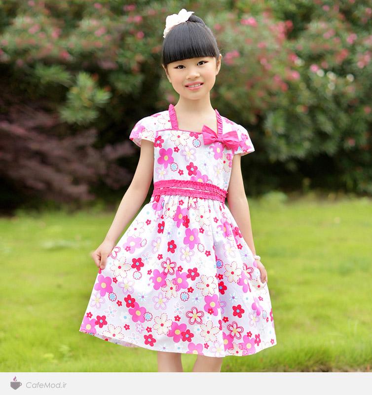 مدل لباس طرح دار دخترانه