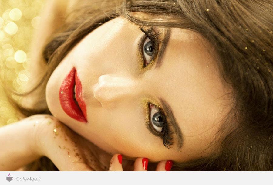 آرایش طلایی چهره