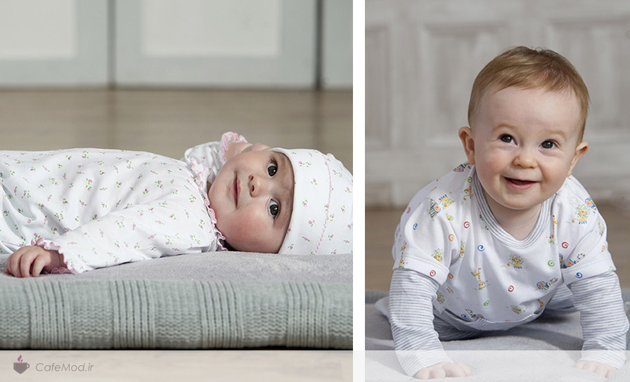 مدل ست لباس نوزادی