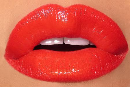 آموزش لب هاي نارنجي و قرمز  1