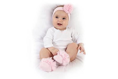 مدل پاپوش و هدبند نوزاد
