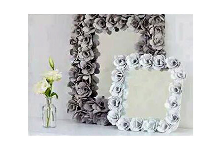 تزئین آینه با مواد بازیافت 2