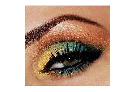 مدل سایه چشم آبی و طلایی 1